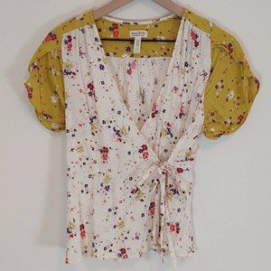 Anthropologie 10 Meadow Rue Bon Voyage Blouse Wrap